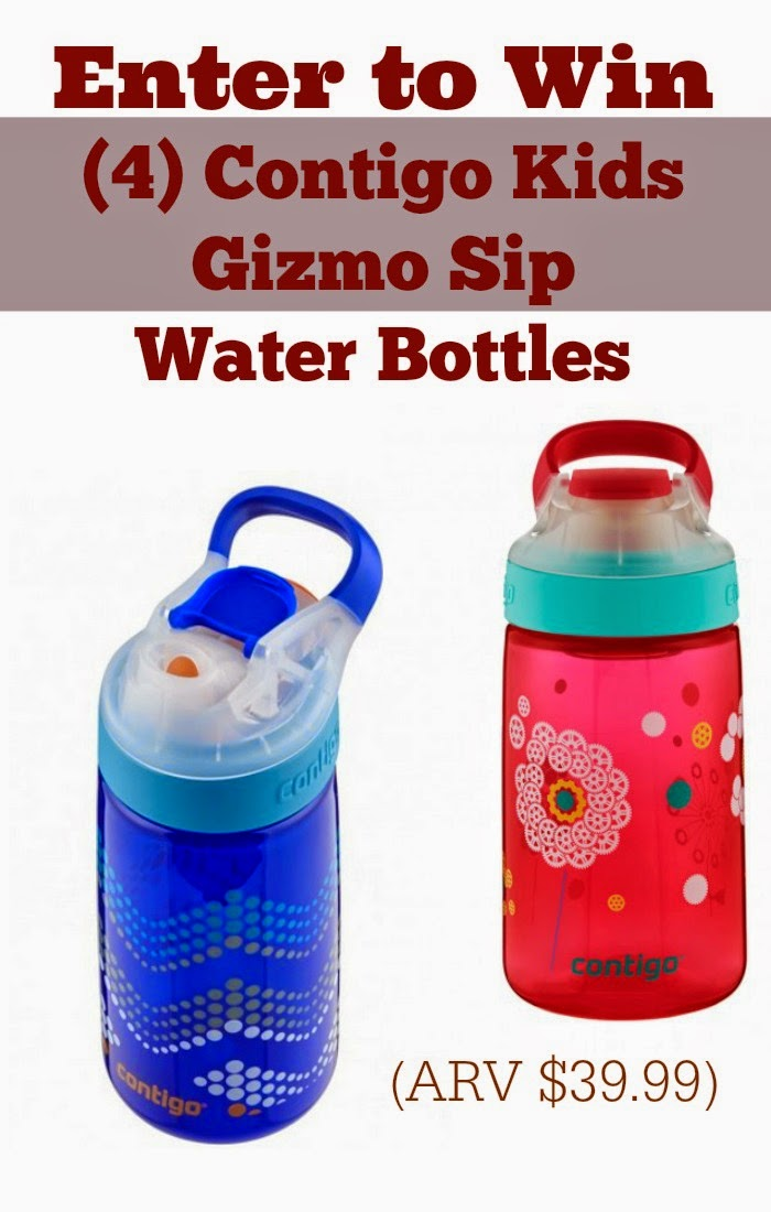 Contigo Kids Gizmo Sip Water Bottles Giveaway: Enter to Win 4 - Ends May 3rd