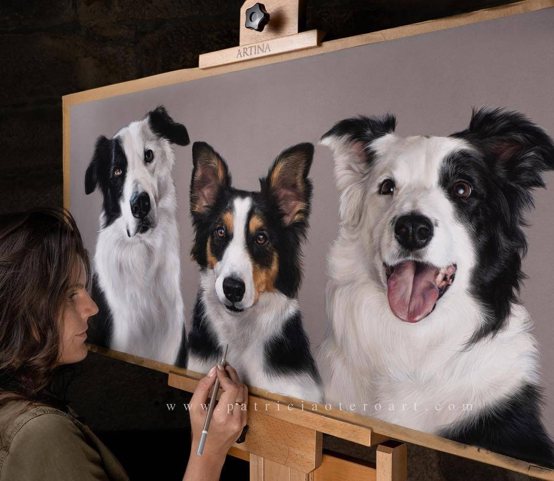 09-Oscar-Shay-and-Jozie-Patricia-Otero-Gorgeous-Expressions-in-Dog-Drawings-www-designstack-co