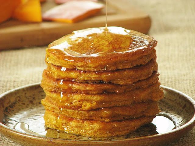 recette de pancakes facile avec de la courge et de la farine d'orge