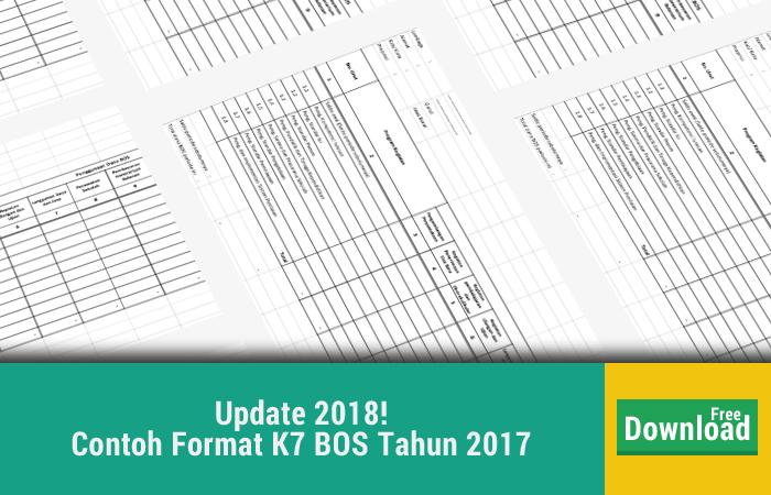 Contoh Format K7 BOS Tahun 2017