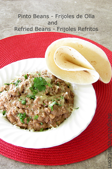 How to Make Pot of (Pinto) Beans and Refried Beans / www.delightfulrepast.com