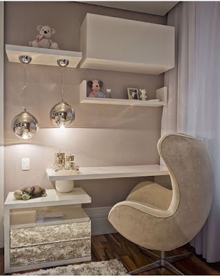 ultra-modern dressing table designs with upholstered chair for small bedrooms