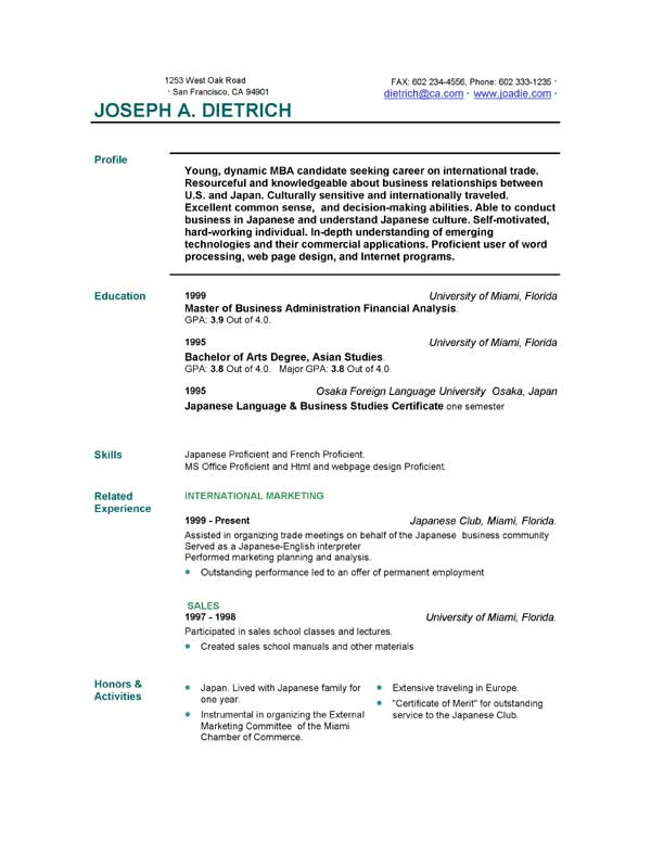 Free Resume Formats For Teachers Sample Gym Template Download
