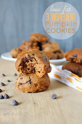 Easy delicious low fat pumpkin cookies