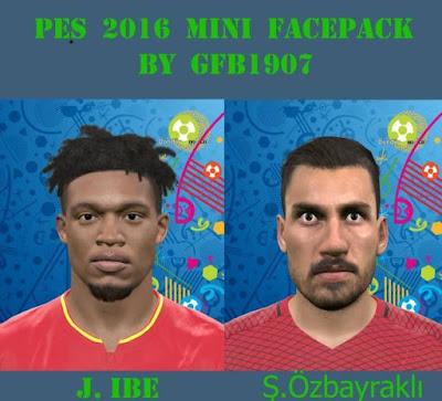 PES 2016 Jordon Ibe Face & PES 2016 Şener Özbayraklı Face