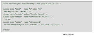 google search in your web application