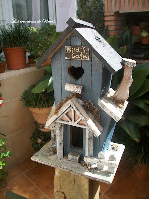 Las creaciones de Victoria.Casa pájaros.Decoración