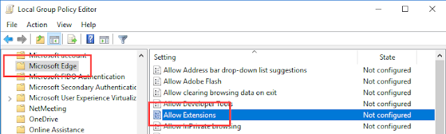 كيفية حظر تثبيت الإضافات في متصفح ايدج