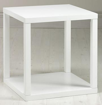 Copy Cat Chic Jonathan Adler White Lacquer Cube