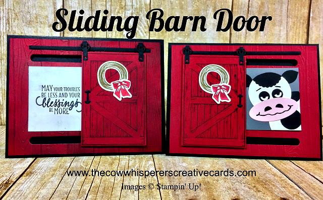 Card, Sliding Barn Door, Cow, Barn Door Bundle