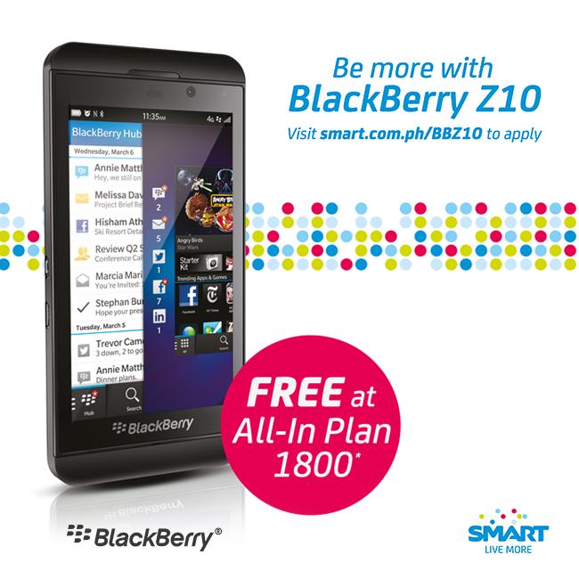 BlackBerry Z10 + Smart's All-in Plan 1800 | Mabzicle