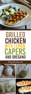 Grilled Chicken with Lemon, Capers, and Oregano [found on KalynsKitchen.com]