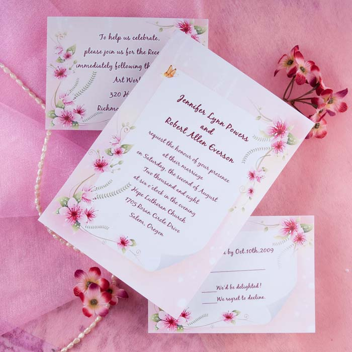 Springtime Wedding Invitations