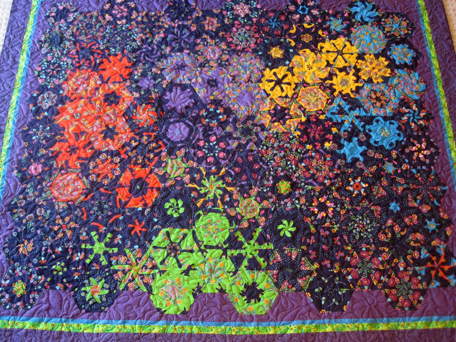 Finely Finished Quilts Randi S One Block Wonder Wedding Quilt