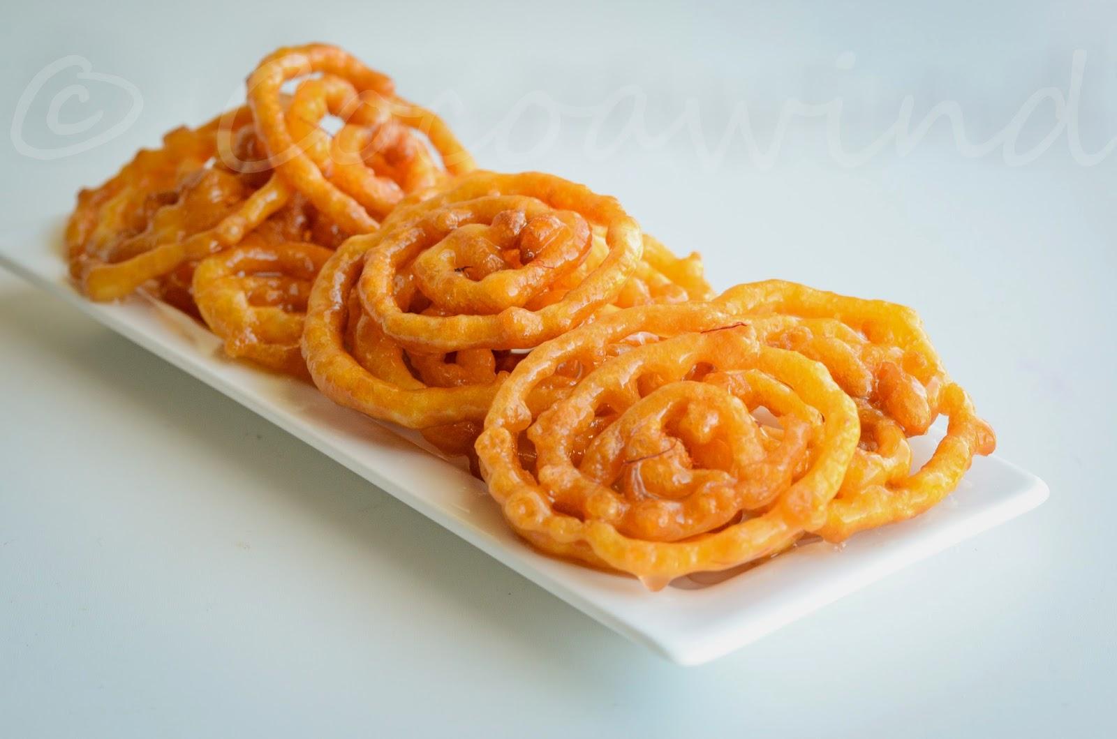 Mahalaya ey mishti mookh - Instant Jilipi/Jalebi (without yeast)