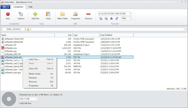 تحميل برنامج نسخ الاسطوانات dvd مجانا BurnAware Free 9.0