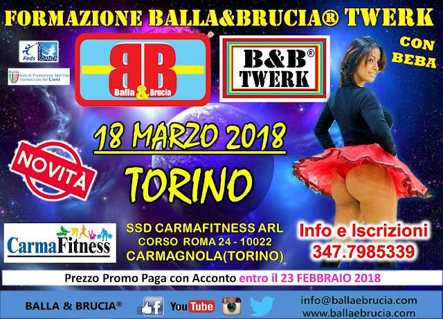 Formazione Insegnanti Balla&Brucia. Twerk con Beba, Torino 18 Marzo 2018