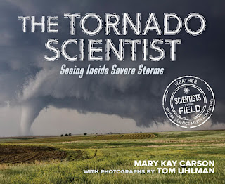 review of The Tornado Scientist by Mary Kay Carson with photography by Tom Uhlman