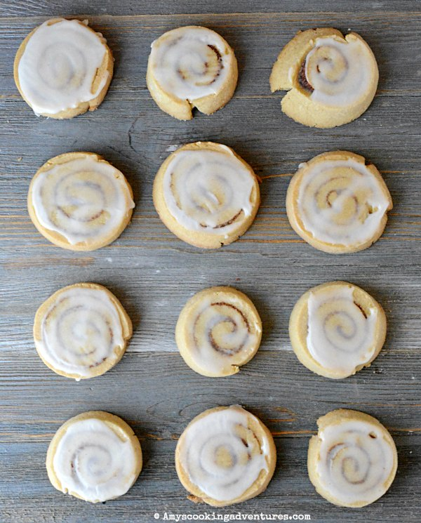 Cinnamon Roll Cookies by Amy's Cooking Adventures