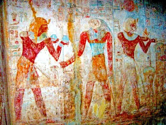 Ramsés II haciendo una ofrenda, templo de Beit al-Wali, Egipto.