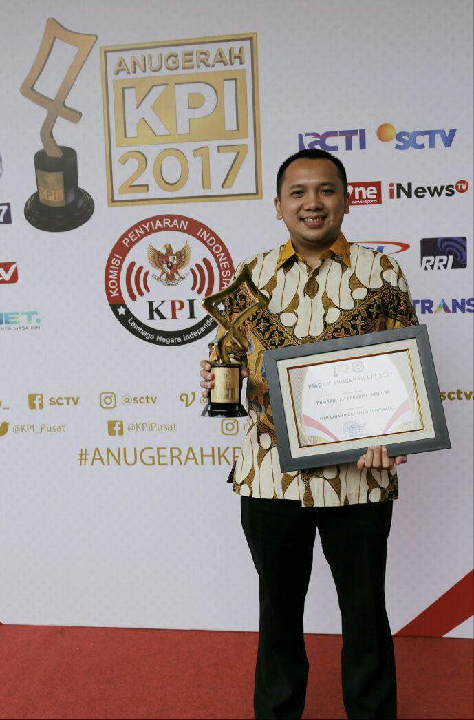 Gubernur Lampung Dapat Penghargaan Dari KPI 2017