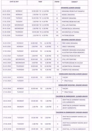 AP TCC Exam Time Table 2018