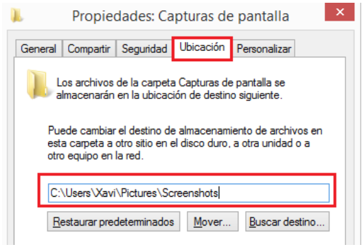 Windows: Windows 8 captura de pantalla (Win+Impr.Pant)