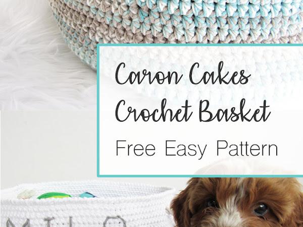 Caron Cotton Cakes Basket - Free Crochet Pattern