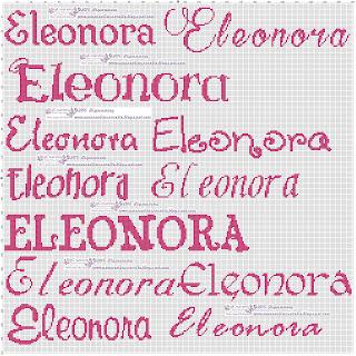 amorevitacrocette  Schema Eleonora a punto croce 33629dd84572