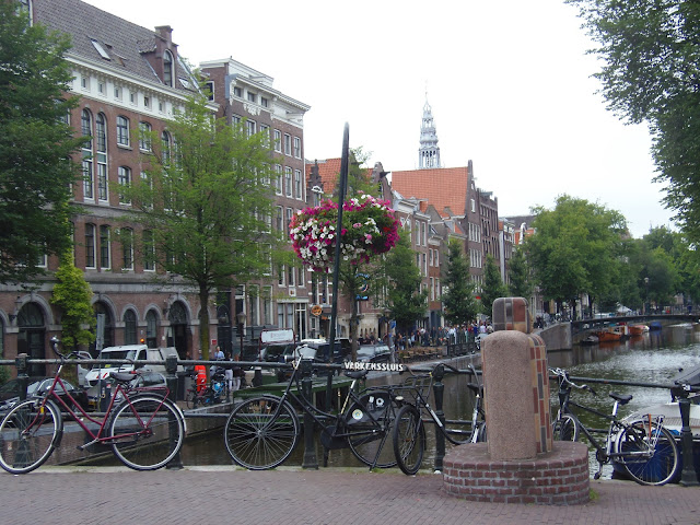 Bikes and canal, Amsterdam http://psychologyfoodandfitness.blogspot.co.uk/2016/07/travel-diary-i-am-amsterdam.html