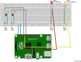 Raspberry Pi connect to LED and Switch