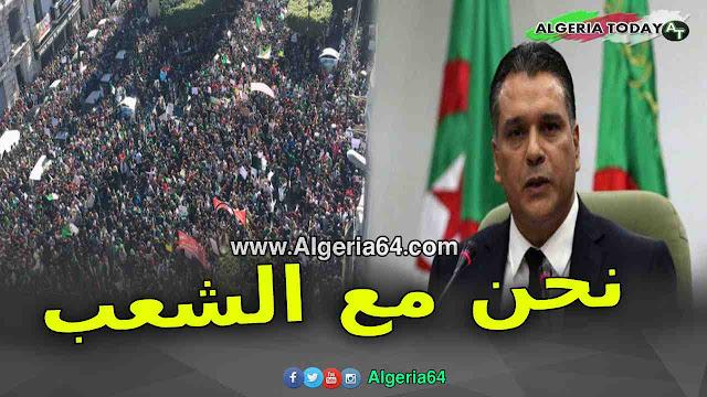 عاجل ... بعد أحمد أويحيى معاذ بوشارب : نحن مع الشعب و نساند الحراك الشعبي