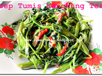 Resep Tumis Kangkung Terasi ( Stir-Fry Water Spinach With Shrimp Paste )