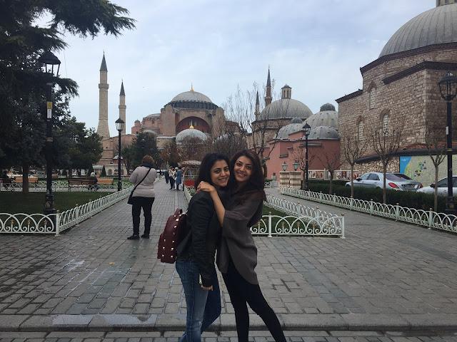 kajal agarwal with her sister nisha agarwal