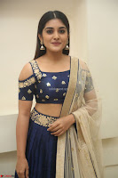 Niveda Thomas in Lovely Blue Cold Shoulder Ghagra Choli Transparent Chunni ~  Exclusive Celebrities Galleries 061.JPG