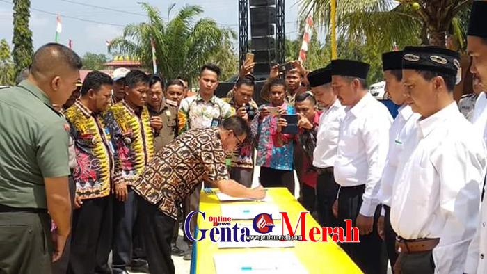 Jaga Ketertiban Pilkades, Pemkab Mesuji Gelar Deklarasi Damai Calkades