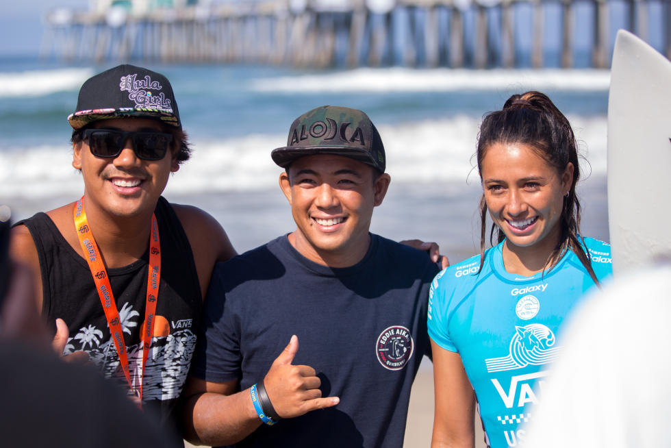 3 Malia Manuel Vans US Open of Surfing foto Sean Rowland WSL