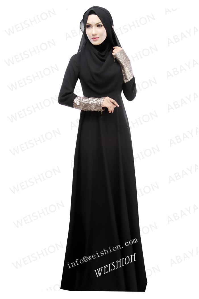 baju abaya hitam sederhana cantik