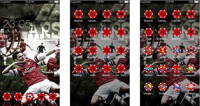 Download Tema Arsenal untuk Hp Android Apk - Selebrasi