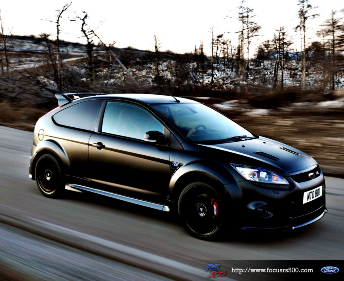 Ford Focus Rs Black Hd Wallpaper View Wallpapers