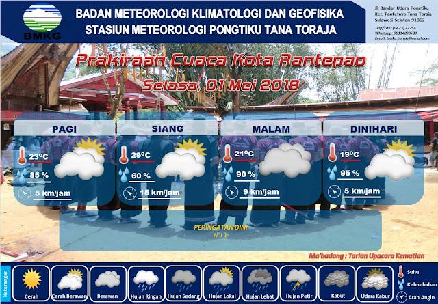 BMKG : Suhu Toraja Pagi Ini Hanya Naik 6 ° C Saat Menjelang Siang