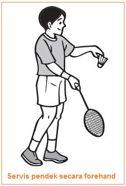 Servis pendek secara forehand - Jenis-Jenis Pukulan Bulu Tangkis