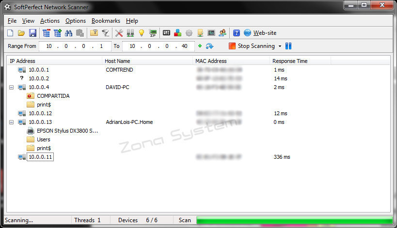 Zamzom wireless network tool