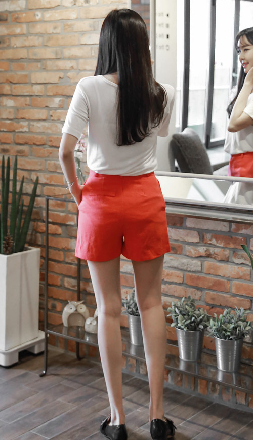 Colored High Waist Shorts