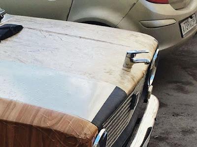 Komische Auto-Verzierung - Wasserhahn lustig