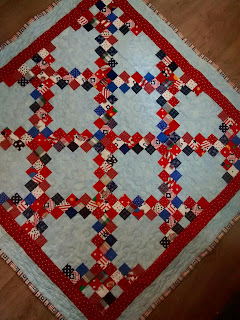 ProsperityStuff Quilts: Patriotic Irish Chain