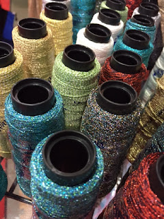 Metallic thread on cones will be on sale at the Oct 2017 Kreinik factory outlet store