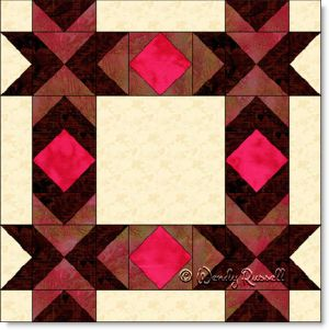 Cupid's Arrow Point quilt block image © Wendy Russell