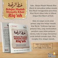 Buku Belajar Mudah Menulis Khat Riq'ah
