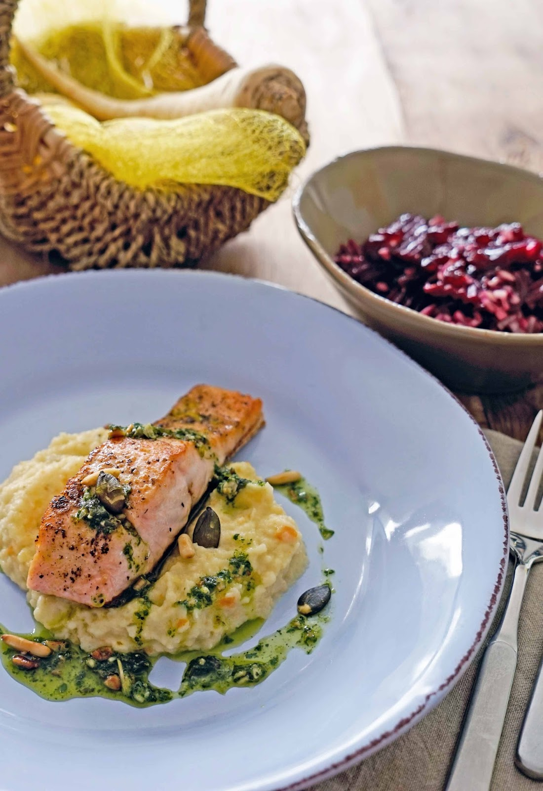 lachs rote bete